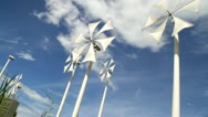 Stock Video Footage of white windmill