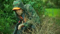 Hunting shotgun season poacher Stock Footage