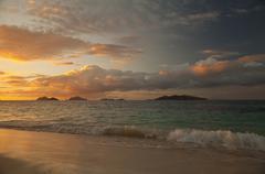 Fiji Sunset beach.jpg - stock photo