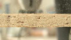 Plywood fret sawing Stock Footage