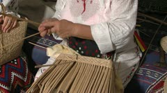 Stock Video Footage of Cattail Basket