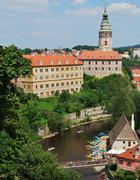 Historical center of cesky krumlov, czech republic Stock Photos