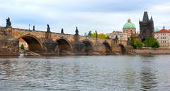 Charles bridge, prague Stock Photos