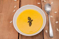 Butternut squash soup Stock Photos