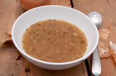 onion soup - stock photo