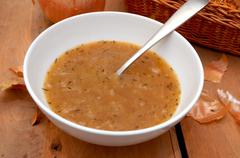 onion soup - stock photo