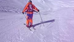 Ski patroller in action. Stock Footage