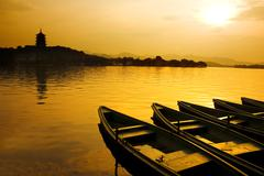 west lake in china - stock photo