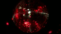 Funky discoball spinning party glitterball Stock Footage