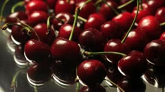 Slide over Pile of Cherries Stock Footage