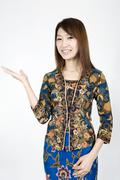 batik - stock photo