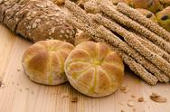 Stock Photo of variety of organic breads