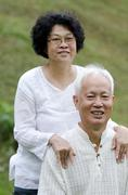 Asian senior couple Stock Photos