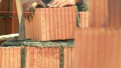 Brickwork Close-Up 10 - stock footage
