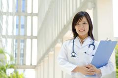 asian medical student - stock photo