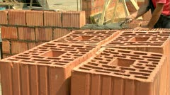 Brickwork Close-Up 06 - stock footage