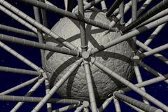 spherical object - stock illustration