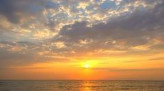 Sunset on Sea - stock footage