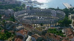 Pula aerial Arena Stock Footage