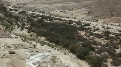 The wilderness of Zin Desert in the Negev district in southern Israel Stock Footage