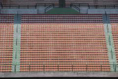 Stadium red seats Stock Photos