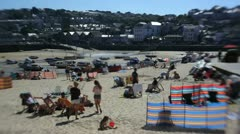 St Ives Beach, Cornwall, UK Stock Footage