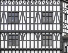 tudor building - stock photo