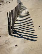 Sand dune shadows Stock Photos