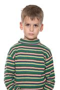 Cute boy anger Stock Photos
