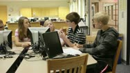 Stock Video Footage of Students in school library