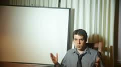 Passionate whitespace presentation pitch business meeting Stock Footage