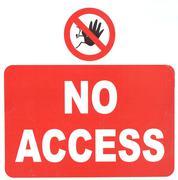 no access sign - stock photo