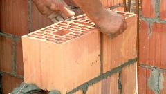 Brickwork Close-Up 09 - stock footage