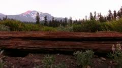 Mt Shasta 32 Sunset Bunny Flat. - stock footage