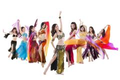 Belly dance troupe Stock Photos