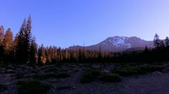 Mt Shasta 36 Timelapse Sunrise Bunny Flat x50 Stock Footage