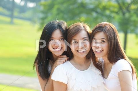 Stock photo of asian young beautiful friends
