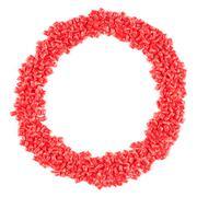 Alphabet made of plastic pellets Stock Photos