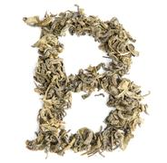 Green tea alphabet Stock Photos