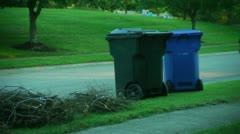 Throwing away trash Stock Footage