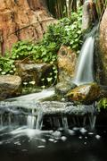 Garden waterfalls. Stock Photos