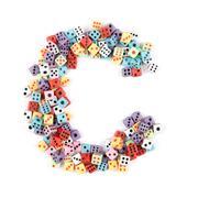casino alphabet - stock photo