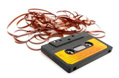 audio cassette tape - stock photo