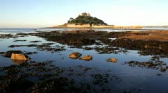 St Michaels Mount, Marazion, Cornwall - stock footage