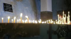 Church of St. Petka (candle detail) _1 Stock Footage