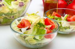 fresh vegetable salad - stock photo
