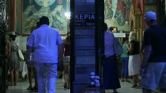 Stock Video Footage of Church of St. Petka (main hall entrance)