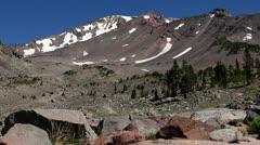 Mt Shasta 23 Old Ski Bowl - stock footage