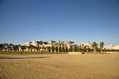 Apartments on the coast (red sea) Stock Photos