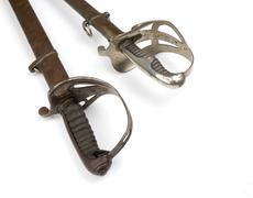 french soldier saber - stock photo
